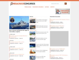 resultadosconcursos.com.br screenshot