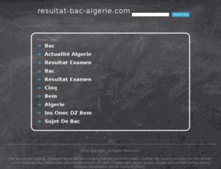 resultat-bac-algerie.com screenshot