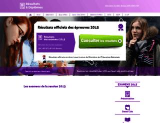 resultats-diplomes.fr screenshot