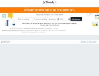 resultats-examens.lemonde.fr screenshot
