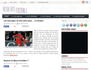 resultats-football.net screenshot