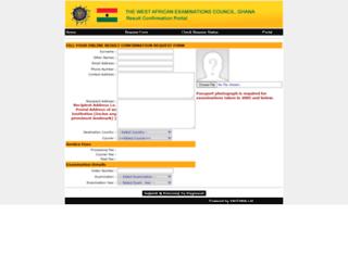 resultconfirmation.waecgh.org screenshot