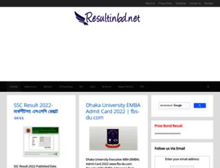 resultinbd.net screenshot