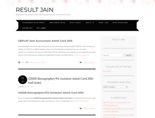 resultjain.wordpress.com screenshot