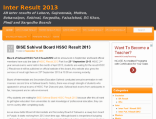 results.edu.pk screenshot