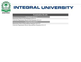 results.integraluniversity.ac.in screenshot