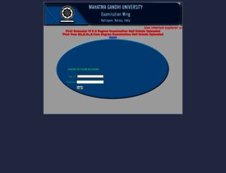 results.mgu.ac.in screenshot