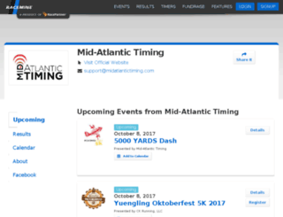 results.midatlantictiming.com screenshot