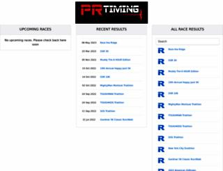 results.prtiming.com screenshot
