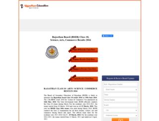 results.rajasthaneducation.net screenshot