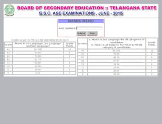 results1.bsetelangana.org screenshot