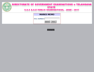 results2.bsetelangana.org screenshot