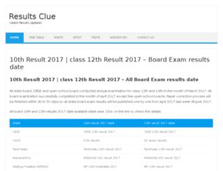 resultsclue.com screenshot