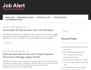 resultsrecruitment.in screenshot