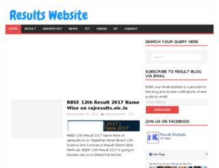 resultswebsite.in screenshot