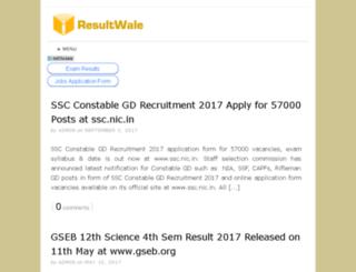 resultwale.net screenshot