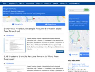 resume-formats.blogspot.com screenshot