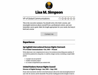 resume-template.joelglovier.com screenshot