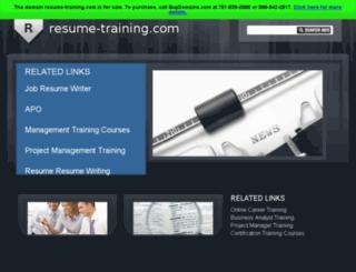 resume-training.com screenshot