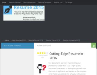 resume2015.com screenshot
