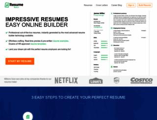 resumebuildersoftware.com screenshot