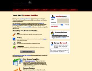 resumebuildertemplate.com screenshot
