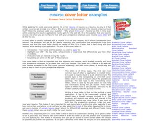 resumecoverletterexamples.com screenshot