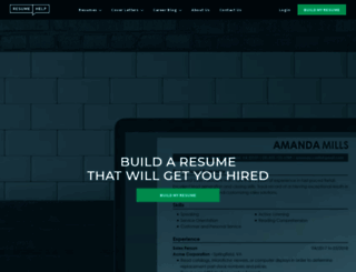 resumehelp.com screenshot