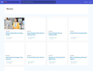 resumeindex.com screenshot