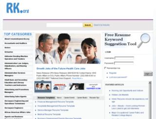 resumekeywords.org screenshot