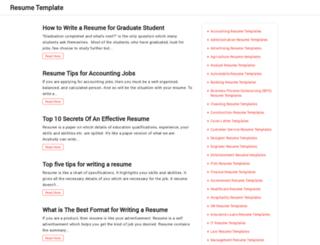 resumetemplate.org screenshot