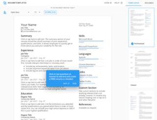 resumetemplates.com screenshot