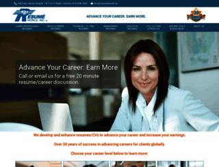 resumeworld.ca screenshot