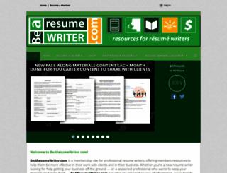 resumewritersdigest.memberlodge.com screenshot