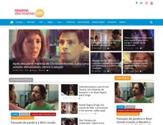 resumodasnovelas.org screenshot