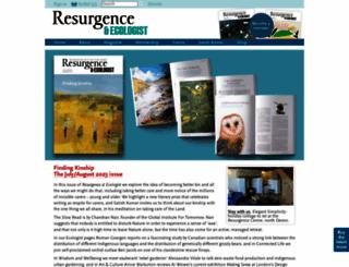resurgence.org screenshot