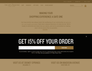 retail.theartofshaving.com screenshot
