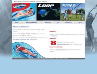retailer.swimways.com screenshot