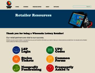 retailer.wilottery.com screenshot
