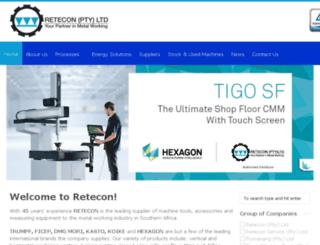 retecon.co.za screenshot