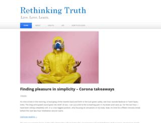 rethinkingtruth.com screenshot