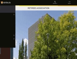 retirees.uwaterloo.ca screenshot