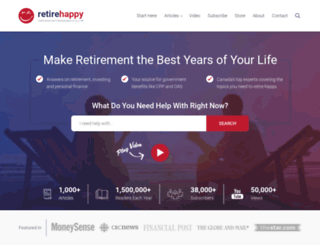 retirehappyblog.ca screenshot