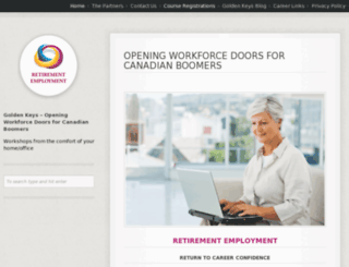 retirementemployment.ca screenshot