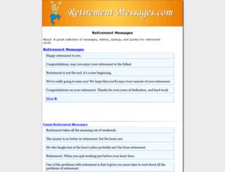 retirementmessages.com screenshot