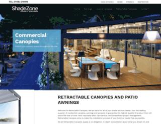 retractablecanopies.co.uk screenshot