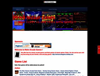 retroarcadegame.weebly.com screenshot