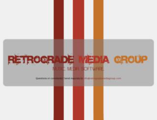 retrogrademediagroup.com screenshot