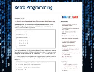 retroprogramming.com screenshot