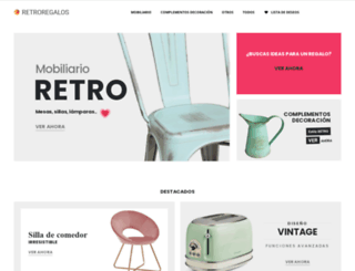 retroregalos.com screenshot